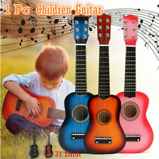 21 Inch Kids Small Wooden Guitar Music Toy Children Portable Acoustic Guitar