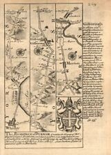 Whitby-Guisborough-Marton in Cleveland-Stockton on Tees OWEN/BOWEN road map 1753