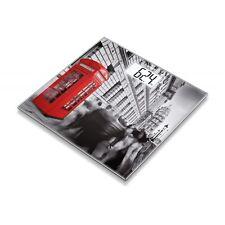 Beurer GS 203 London Grau-Rot Personenwaage digitale Anzeige Glasauflage