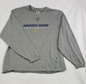 Reebok NFL Minnesota Vikings Football Play Dry Long Sleeve Shirt Large