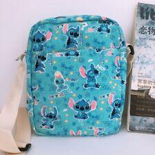 Lilo&stitch blue shoulder bag Cycling bags money phone bag canvas new