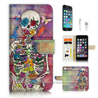 ( For iPhone 6 / 6S ) Wallet Case Cover P3576 Suger Skull