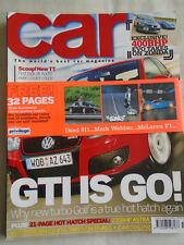 Car Oct 2004 VW Golf GTi, Zonda vs Mitsubishi Evo, hot hatch special