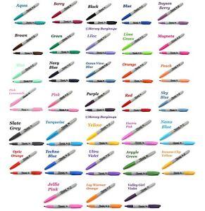 Sharpie Permanent Marker Fine Bullet Point Tip Assorted Colours Art Office