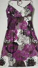 Women's H&M summer  dress violet-brown-grey color size EU 34 /UK 6 BNWOT