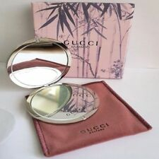 Gucci Bamboo Silver Double Compact Handbag Mirror & Dustbag