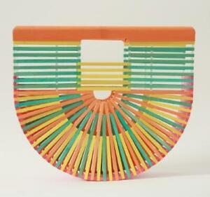 Get Racy Bamboo Half Circle Bag in Rainbow