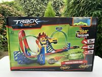 Track Racing Car Toy - 360 Rotation 4 Loop Racing Track With Inertia Powered Car