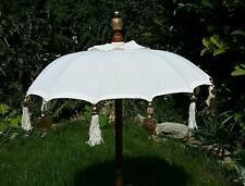 80cm Ø Bali Tempel Sonnen Balkon Schirm creme weiß REDUZIERT von 79 EURO
