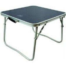 Small Folding Camping Table - Highlander Aluminium Stool Festival Caravan Picnic