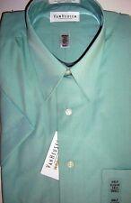 Van Heusen Mens Dress Shirts Solid Seafom Green Classic Fit Size Small 14 1/2