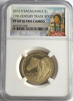 2012 S $1 NGC PF69 PROOF SACAGAWEA DOLLAR ULTRA CAMEO 17TH CENTURY TRADE ROUTE