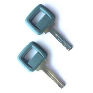 (2) Volvo Loader and Haul Truck Heavy Equipment Laser Cut Ignition Keys 11039228