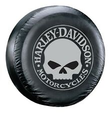"Harley Davidson Grey Willie G Skull Spare Tire Cover 27"" - 31"" New Free Shipping"