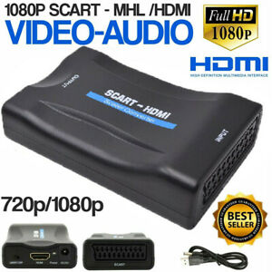 HDMI To SCART Composite 1080P Video Scaler Converter Audio Adapter For DVD TV