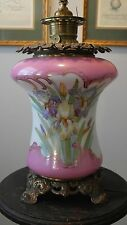 REDUCED!! Antique Gone with the Wind Hand Painted Oil Lamp Converted to Electric