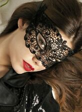 Black or White Cut-out Lace Masquerade Eye Masks Halloween, Fancy Dress Party