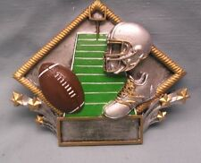 FOOTBALL trophy resin plaque diamond plate full color Marco RDP10