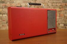 PHILIPS GF 110 PLACA GIRATORIA PORTABLE MALETA VINTAGE 70s Batería WINDUP