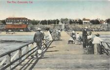 The Pier, Oceanside, CA San Diego County ca 1910s Vintage Hand-Colored Postcard