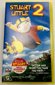 Stuart Little 2, with Reversible Cover, VHS Video Cassette Tape PAL G