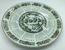 Wedgwood Cherub Zodiac Victorian Calendar 1971 Made In England Almanac Plate