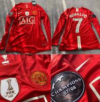 Manchester united 2008 2009 jersey shirt cristiano ronaldo long sleeve ucl model