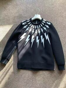 Neil Barrett Black & White Thunderbolt Sweatshirt