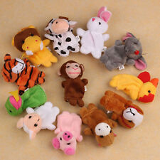 12X Farm Zoo Animal Finger Puppets Toys Boys Girls Babys Party Bag Filler_GG