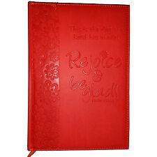 NWT Red/Orange Immitation Leather Rejoice & Be Glad! Journal
