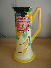 VINTAGE H J WOOD HAND PAINTED JUG - 327