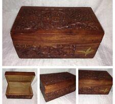 Vintage Wooden Jewellery Box Calcutta India