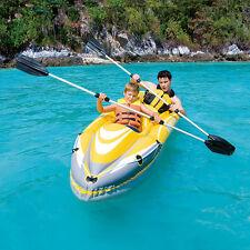 Bestway Canoa Kayak Wawe Line due remi mare lago fiume gonfiabile doppia 65020
