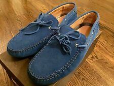 550$ Bally Dramer Blue Ocean Suede Driver Size US 10