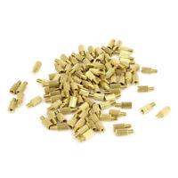100 x golden,M2 Schraube Messing Abstandsbolzen 8*5mm  R6R2