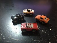 MICRO MACHINES - 1987 GALOOB VINTAGE LOT (4) - CITY SUPERS & CONVERTIBLE
