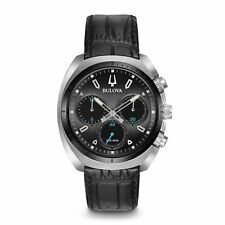 Bulova 98A155 Men's Curve collection Black Quartz Watch