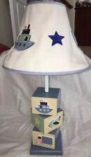 Plane Train Car Decorations Table Lamp Abc Blocks Nursery Baby Room Décor Blues