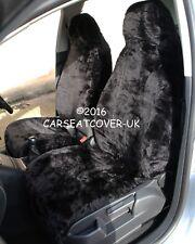 Smart Fortwo (2003-07) Panther Negro Imitación Piel cubiertas de asiento de coche - 2 X frentes