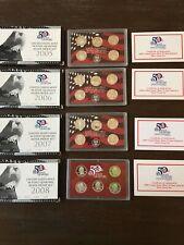 2005 Thru 2008 US MINT 50 State Quarters Silver Proof Sets W/ COA Lot of 4