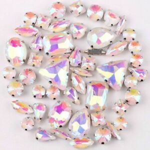 Clear Glass Crystal Beads DIY  Wedding Dress Shoes Bag Sew Rhinestone 50Pcs/Bag