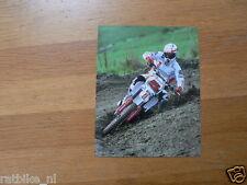 F066- CLAUDIO FEDERICI YAMAHA CHESTERFIELD NO 5 MX MOTOCROSS PHOTO CROSS