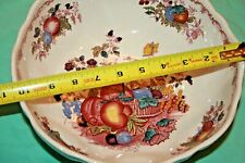 """Mason's Fruit Basket Multicolor Red large footed Serving Bowl 10"""" x 4.5"""""""