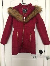 Baby Phat Women's Hooded Winter Jacket Coat Sz S Burgandy Clothes