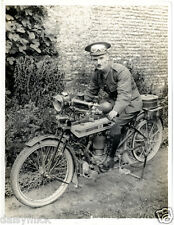 British Army Dispatch Rider Motorcycle France 1915 World War 1 5x4 Repr Photo bl