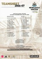 Teamsheet - Newcastle United v Watford 2006/7