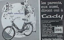 PUBLICITE CADY CYCLOMOTEUR MOTOBECANE MOTOCONFORT DE 1966 FRENCH AD PUB VINTAGE