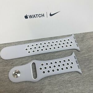 Genuine apple watch x Nike sport band Pure Platinum /White 42mm/44mm S/M *Rare*
