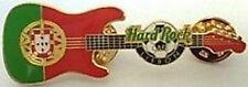Hard Rock Cafe LISBON 2003 Football Soccer GUITAR PIN Coat of Arms - HRC #21689