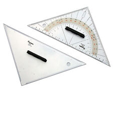 Navigationsdreiecke - Anlegedreieck + Kursdreieck 25 cm, Ecobra # Navigation SBF